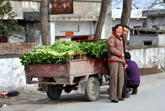 Pengzhou, China: Friendly Farmers Stock Image