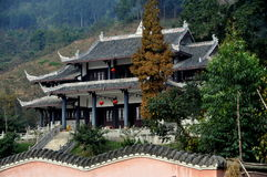 Pengzhou, China: Ge Xian Guan Temple Stock Photos