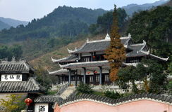 Pengzhou, China: Ge Xian Guan Temple Royalty Free Stock Photos