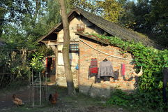 Pengzhou, China: Half-timbered Farmhouse Royalty Free Stock Photo