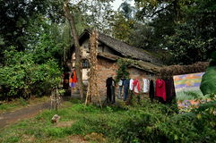 Pengzhou, China: Half-Timbered Sichuan Farmhouse Stock Photography