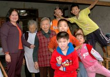 Pengzhou, China: Happy Family Members Royalty Free Stock Image