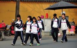 Pengzhou China: High School Students Stock Photo