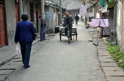 Pengzhou, China: Hua Lu Street Stock Photo