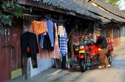 Pengzhou, China: Hua Lu Street Scene Stock Image