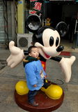 Pengzhou, China: Little Boy with Mickey Mouse Stock Image