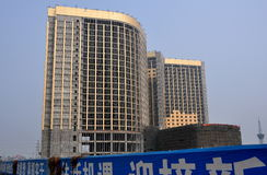 Pengzhou, China: Luxury Hotel under Construction Stock Photos