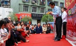 Pengzhou, China: Man Selling Jewelry Royalty Free Stock Photos