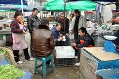 Pengzhou, China: Market Workers Playing Cards Stock Photos