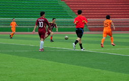 Pengzhou, China: Men Playing Football Royalty Free Stock Photo
