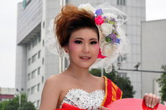 Pengzhou, China: Model at Wedding Photo Promotiion Royalty Free Stock Images