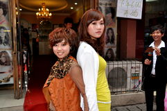 Pengzhou, China: Models at Fashion Show Stock Photos