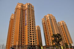 Pengzhou, China: Modern Luxury Apartment Towers Stock Photo