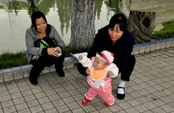 Pengzhou, China: Mother with Baby Stock Photo