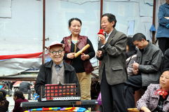 Pengzhou, China: Musicians in New Square Stock Photos