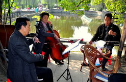 Pengzhou, China: Musicians in Park Royalty Free Stock Photography