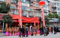 Pengzhou, China: Opening of A New Store Royalty Free Stock Photography