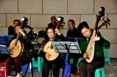 Pengzhou, China: Orchester-Konzert Stockbild