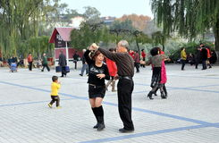 Pengzhou, China: Outdoor Dancing Royalty Free Stock Images
