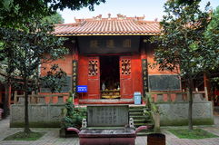 Pengzhou, China: Pátio do templo de Yuan do dong Fotos de Stock