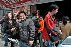 Pengzhou, China: People Buying Salt Stock Photos