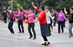 Pengzhou, China: People Dancing in New Square Royalty Free Stock Photography