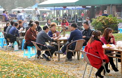 Pengzhou, China: People in Park Royalty Free Stock Photos
