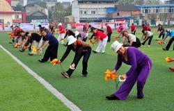 Pengzhou, China: People Performing Tai 'Chi Royalty Free Stock Image