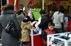 Pengzhou, China: People Shopping Stock Images