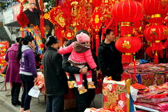 Pengzhou, China: People Shopping for Decorations Stock Images