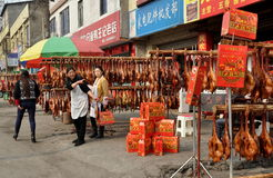 Pengzhou, China: People Shopping for Pressed Ducks Stock Images