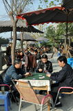 Pengzhou, China: Playing Cards at a Tea House Royalty Free Stock Photos
