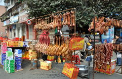 Pengzhou, China: Pressed Ducks and Holiday Foods Royalty Free Stock Photos