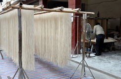 Pengzhou, China: Racks of Drying Noodles Royalty Free Stock Image
