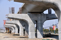 Pengzhou, China: Railway Construction Stock Photos