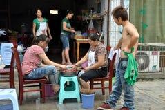 Pengzhou, China: Restaurant Workers Stock Photo