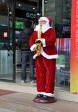 Pengzhou, China: Santa Claus At Computer Store Stock Images