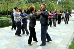 Pengzhou, China: Seniors Dancing in Park Royalty Free Stock Image