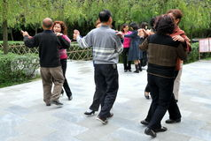 Pengzhou, China: Seniors Dancing in Park stock photos