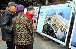 Pengzhou, China: Seniors Studying Advertising Royalty Free Stock Photography