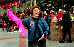 Pengzhou, China: Singing & Dancing Woman Royalty Free Stock Photography