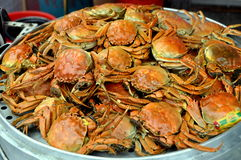 Pengzhou, China: Steamed Crabs Royalty Free Stock Images
