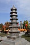 Pengzhou, China: Stone Pagoda at Long Xing Monastery Royalty Free Stock Images