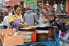 Pengzhou, China: Street Food Vendor Royalty Free Stock Images