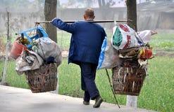 Pengzhou, China: Street Peddlar with his Wares Stock Photos