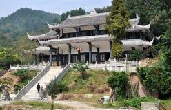 Pengzhou, China: Taoist Hillside Temple stock photography