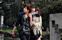 Pengzhou, China: Teenaged Couple Stock Photography