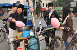 Pengzhou, China: Teens Buying Cotton Candy Stock Photos