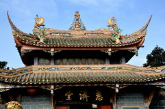 Pengzhou, China: Templo budista do Ci Ji Fotos de Stock Royalty Free