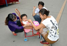 Pengzhou, China: Toddler and Family Stock Image